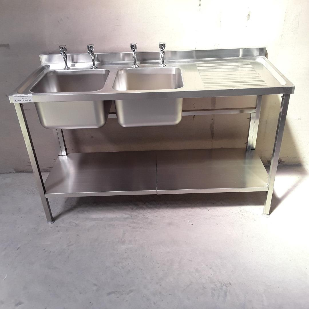 Brand New   Stainless Steel Double Sink For Sale