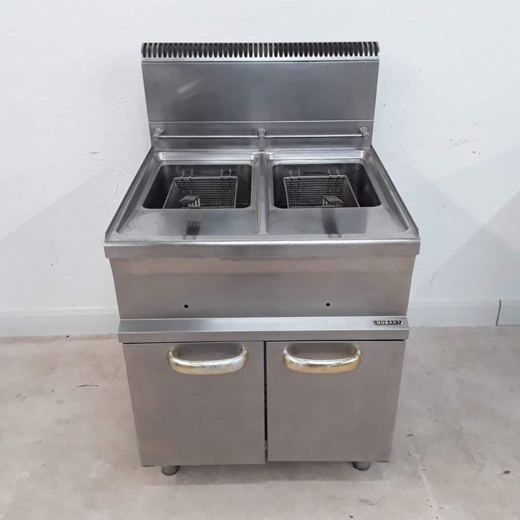 Used Hobart HGF77 Double Freestanding Fryer For Sale – H2