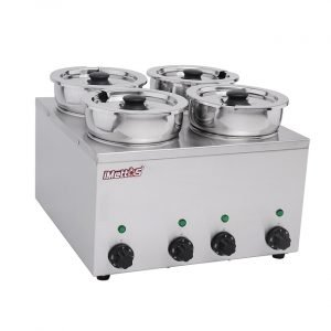 Brand New Imettos 101050 4 Pot Wet Bain Marie For Sale
