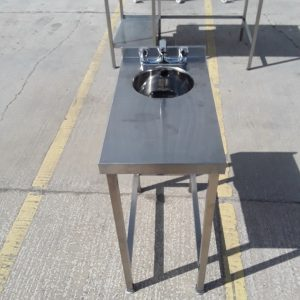 Used   Stainless Steel Hand Sink Table For Sale