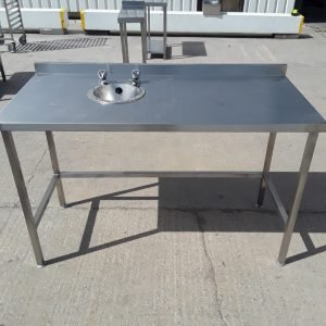 New B Grade   Stainless Steel Hand Sink Table For Sale