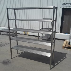 Used   Stainless Steel 5 Tier Rack Shelves For Sale