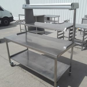 Used   Stainless Steel Table Heated Gantry For Sale