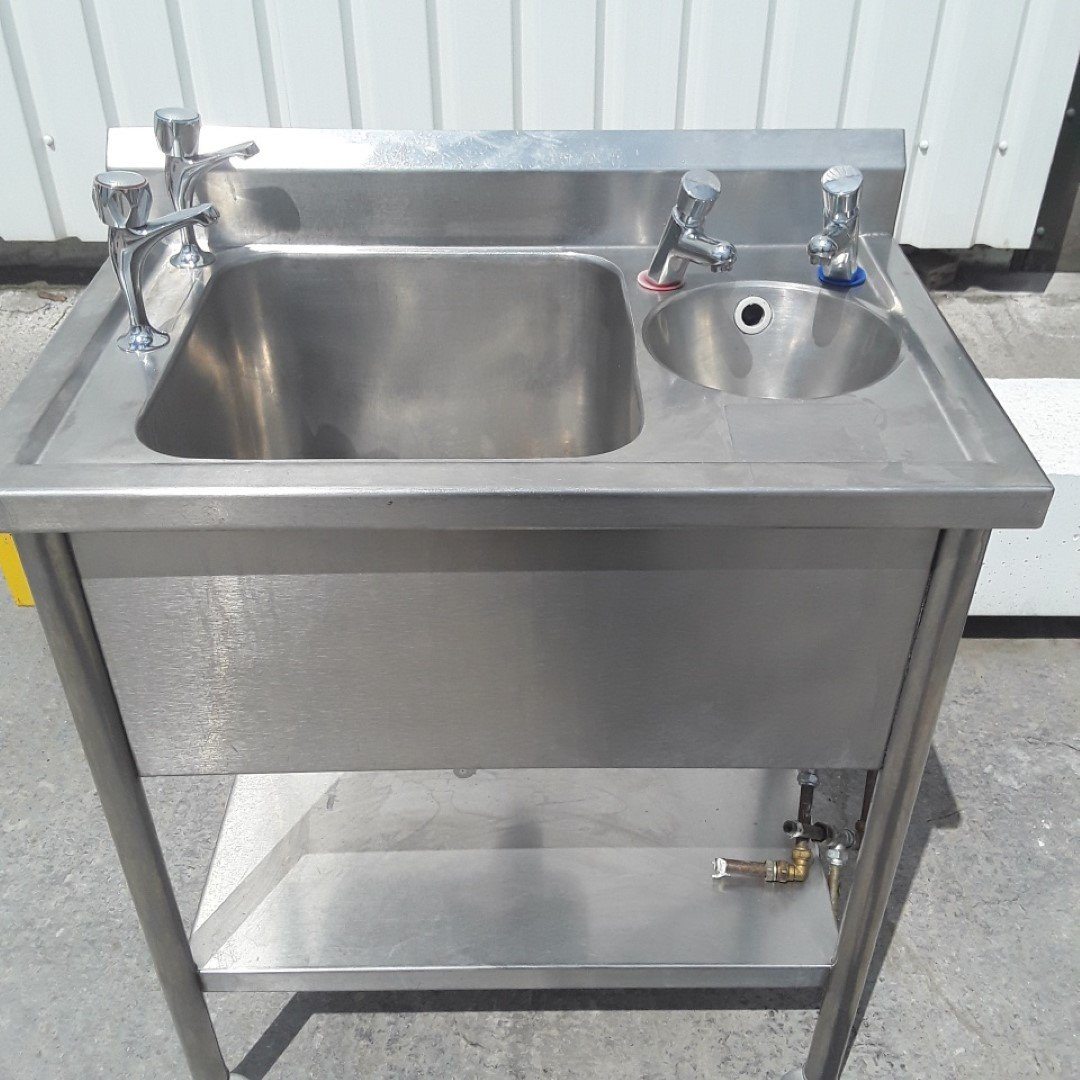 Used   Stainless Steel Double Bowl Sink For Sale