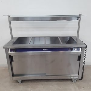 New B Grade Victor CC873 Hot Cupboard Heated Gantry Trolley For Sale