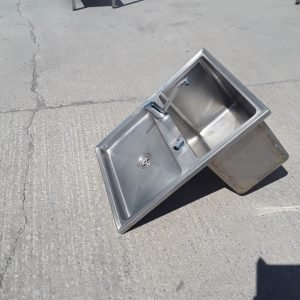 Used   Drop-in Stainless Single Sink For Sale