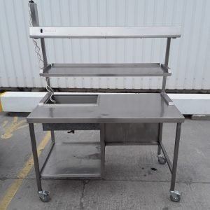Used   Heated Gantry Hot Lights Table For Sale