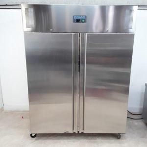 Ex Demo Polar U635 Stainless Double Upright Freezer Heavy Duty For Sale