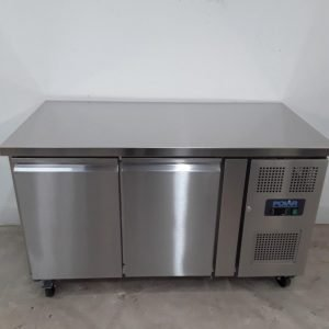 New B Grade Polar G596 2 Door Bench Fridge For Sale