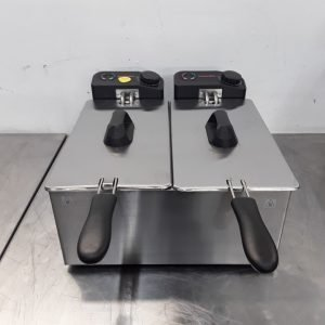 Ex Demo Caterlite GG199 Double Table Top Fryer 3.5L For Sale