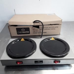 New B Grade Chefmaster HEB087 Double Coffee Hot plate For Sale