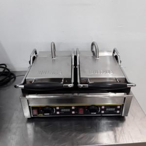 Used Buffalo L537 Double Contact Panini Grill For Sale