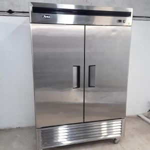 Used Atosa MBF8187 Stainless Double Upright Fridge For Sale