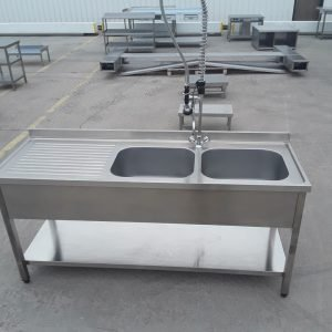 New B Grade   Stainless Steel Double Sink For Sale