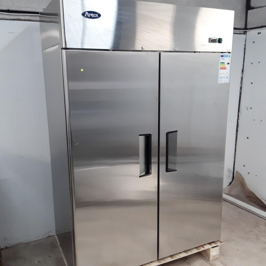 New B Grade Atosa MBF8117GR Stainless Double Upright Fridge For Sale