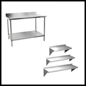 New Stainless Steel Tables and Shelves